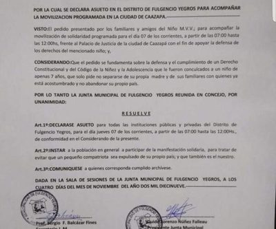 Docentes del distrito de Fulgencio Yegros rechazan determinación de la Junta Municipal