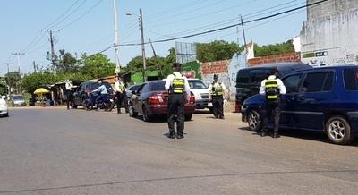 PMT reanuda las barreras de control a vehículos en San Lorenzo