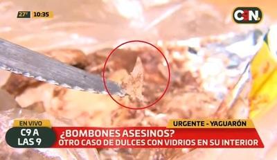 Denuncian distribución de bombones con pedazos de vidrio