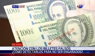 Policía advierte proliferación de billetes falsos