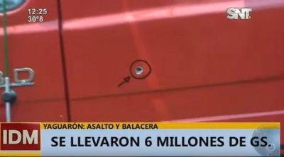 Asaltan camión de mercaderías y se llevan millones en Yaguarón
