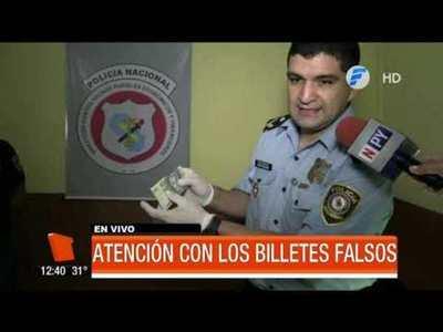 ¡Cuidado con los billetes falsos!