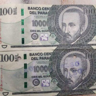 Circulan billetes falsos de G. 100 mil y G. 50 mil, advierten