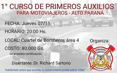 1º  Curso de Primeros Auxilios para motoviajeros