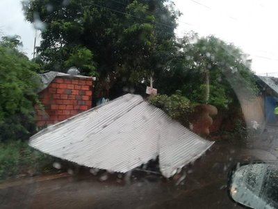 Villa Elisa se declara en emergencia a causa de los destrozos por fuerte temporal