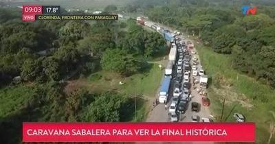 HOY / Colapsa ruta argentina de hinchas que vienen a Paraguay