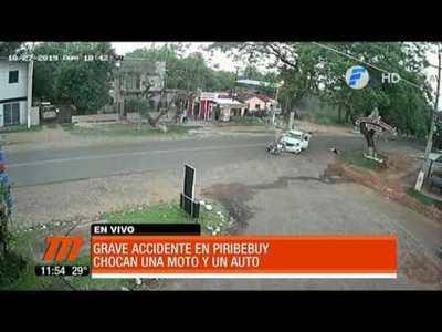 Grave accidente en Piribebuy