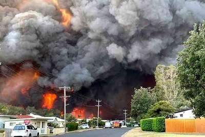 Infierno en Australia: cien incendios asolan el este del país