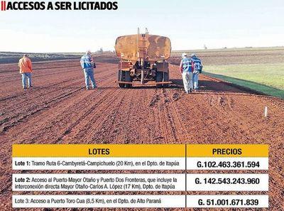 MOPC licitará asfaltado de rutas de unión  con el Corredor de Exportación