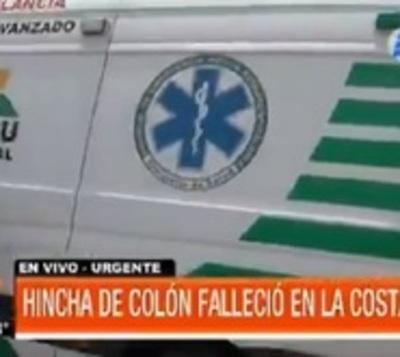 Hincha de Colón fallece en la Costanera