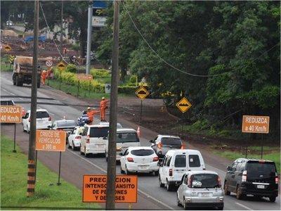 Tránsito lento en primer día de desvíos por obras de multiviaducto