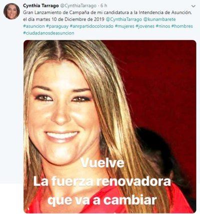 Exdiputada Tarragó se lanza por la Intendencia de Asunción