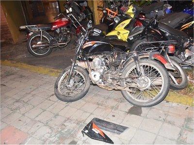 Persecución policial a motochorros termina en accidente de tránsito