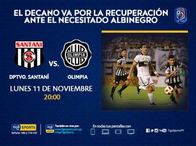 Olimpia visita a Deportivo Santaní y ya no quiere sorpresas