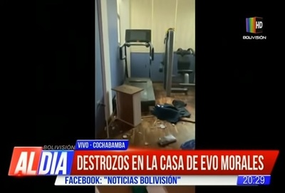 Violentan vivienda de Evo Morales en Cochabamba