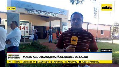 Mario Abdo inaugurará unidades de salud