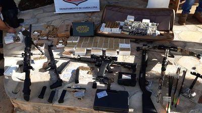 Incautan armas y proyectiles de varios calibres en barrio cerrado de Caacupé