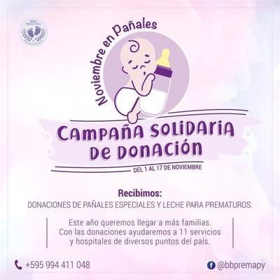 """Bebés prematuros son el centro de la campaña """"Noviembre en Pañales"""""""