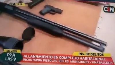 """Policía incautó una escopeta marca """"Warning"""""""