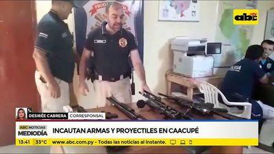 Incautan armas y varios proyectiles