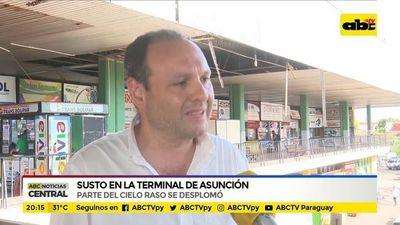 Susto en la terminal de Asunción