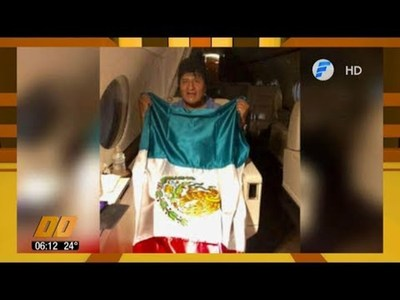 Evo Morales rumbo a México