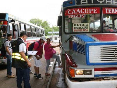 Planifican disponibilidad de buses para Caacupé 2019