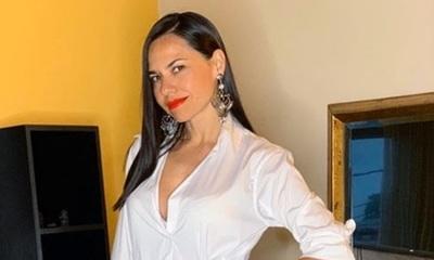 Melissa Quiñónez posó sensualmente en lencería