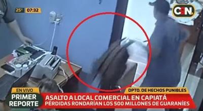 Delincuentes se llevan G. 500 millones de comercio en Capiatá