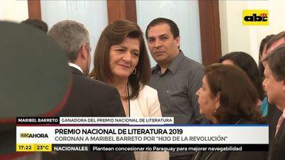 Maribel Barreto ganadora del Premio Nacional de Literatura 2019