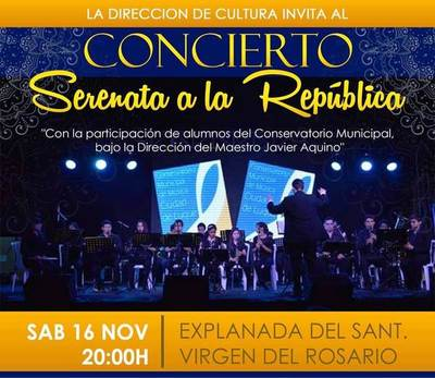 """""""Serenata a la República"""", el sábado en el Santuario •"""