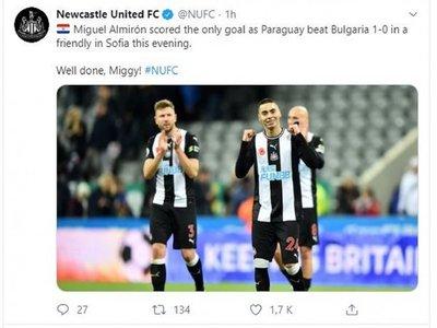 El Newcastle felicita a Miguel Almirón