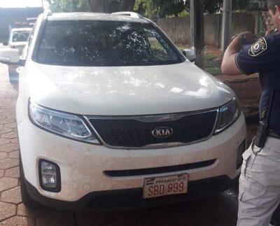 Recuperan vehículo robado