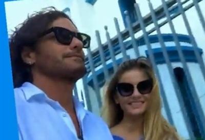Mario Cimarro y su novia fueron hasta la Basílica de Caacupé