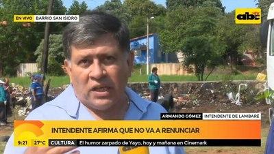 """""""No voy a renunciar"""", afirmó el intendente de Lambaré"""