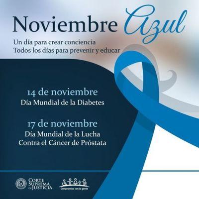 """Campaña """"Noviembre Azul"""" contra el cáncer de próstata y diabetes"""