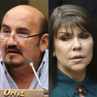 """Edgar Ortíz denigró a su colega Celeste Amarilla: """"Le hace falta un chongo"""""""