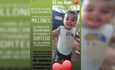 Organizan rifa para costear gastos de cirugía del corazón de Iker