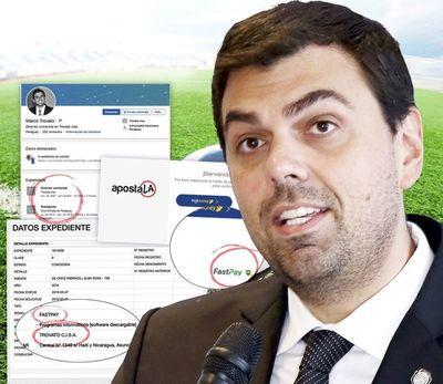 Empresa de Trovato opera con las millonarias apuestas deportivas