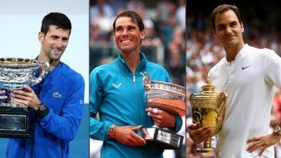 HOY / Nadal, Djokovic y Federer, podio de honor en 2019