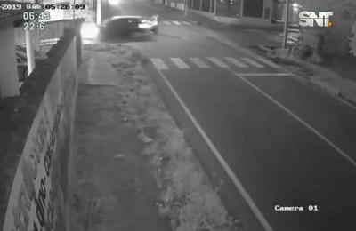 Violento accidente se registró en el centro de Asunción