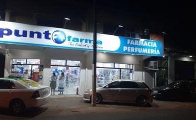 Motochorros con tapabocas asaltaron farmacia en Barrio Obrero