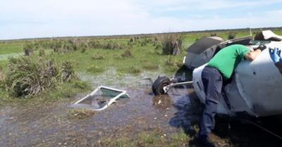 Avioneta se estrelló en Yuty, el piloto omano
