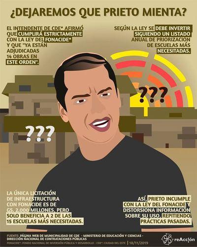 """Miembros de """"reAcción"""" acusan a Prieto por mal uso de los recursos provenientes del FONACIDE"""