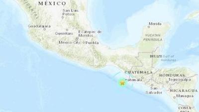 Un sismo de magnitud 6,3 sacude las costas de México y Guatemala