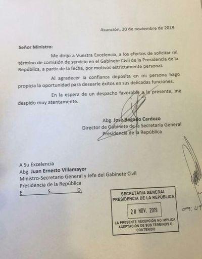 Tras el escándalo, Bogado renuncia a ser secretario de Villamayor