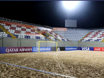 Todo está listo para el Mundial de fútbol playa