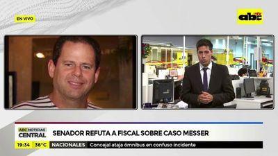 Senador refuta a fiscal sobre caso Messer