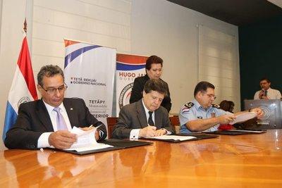 Firman convenio para mejorar la seguridad en el departamento Central