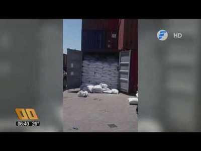 Incautan cocaína paraguaya en bolsas de arroz